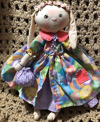 Primitive Folk Art Cloth Easter Bunny