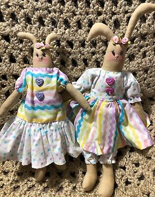 Folk Art Primitive Easter Bunny Girl Set