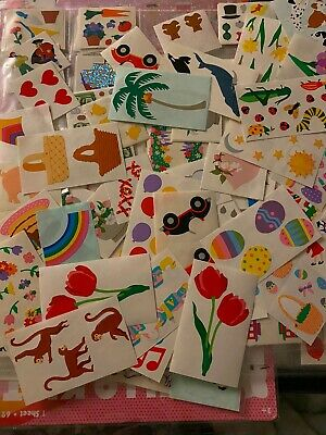 Vintage Mrs- Grossmans Lot Mods Random stickers-Variety Happy Mail 15 Count