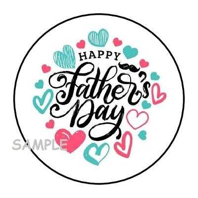 30 HAPPY FATHERS DAY ENVELOPE SEALS LABELS STICKERS 1-5 ROUND FATHERS