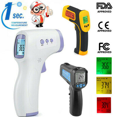 Non-Contact Thermometer Gun LCD Digital Forehead Fever Adult Baby Infrared US