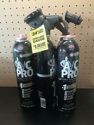AC Pro 134a Refrigerant with additives and Leak Sealer 20oz 3 PACK ACP-100