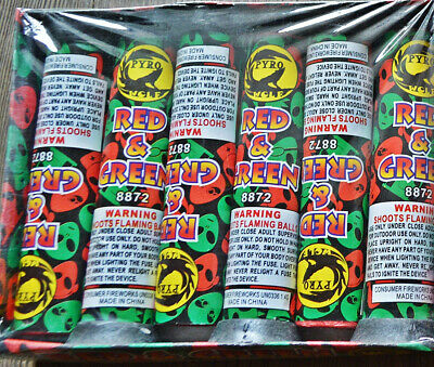 Red And Green Thunderking Firework Tube Labels