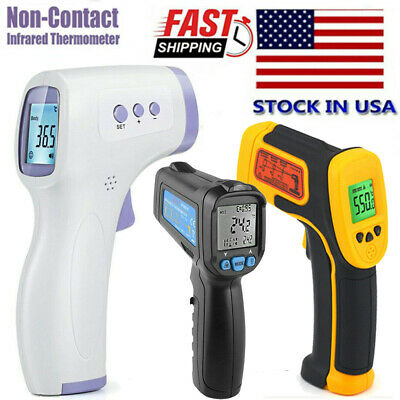Medical Digital Infrared Forehead Fever Gun Thermometer Non-Contact ℃℉ Adult US