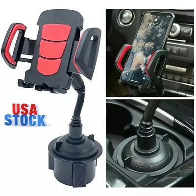 Car Mount Adjustable Gooseneck Cup Holder Cradle For Universal Cell Phone iPhone