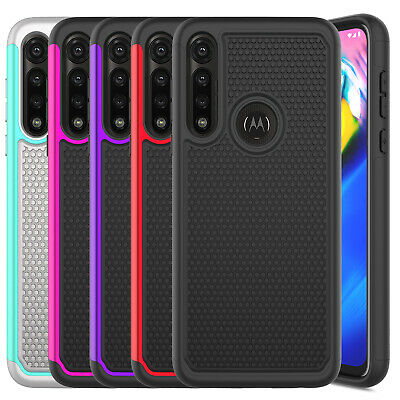 For Motorola Moto G Power 2020 Case Hybird Rugged Cover  Glass Screen Protector
