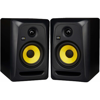 KRK CL5G3 RP5G3 Rokit 5 5 Powered Active Studio Monitor Black - Yellow PAIR