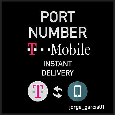 T-Mobile Prepaid Digital Numbers For Port  Instant Delivery 5-10 min