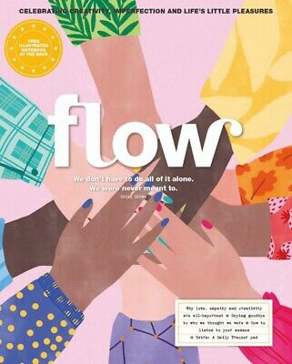 FLOW MAGAZINE-PLUS FREE ILLUSTRATED NOTEBOOK-ISSUE 36-2020-Brand New