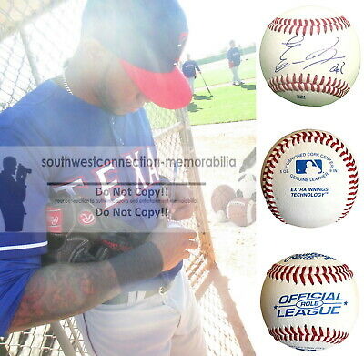 Engel Beltre Texas Rangers Chicago White Sox Signed Autographed Baseball Proof