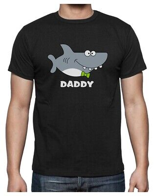 Shark Shirt for Dad Fathers Day Family Daddy T-Shirt