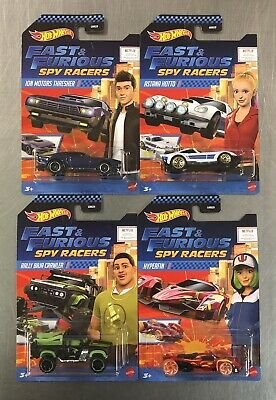 NEW HOT WHEELS 2020 FAST - FURIOUS SPY RACERS SET OF 4 THRESHER CRAWLER HOTTO