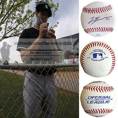 Lucas Giolito Chicago White Sox Nationals Signed Autographed Baseball Proof COA