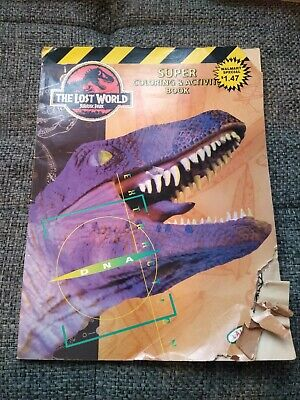 NEW Vintage 1997 Jurassic Park The Lost World Coloring - Activity Book Damaged