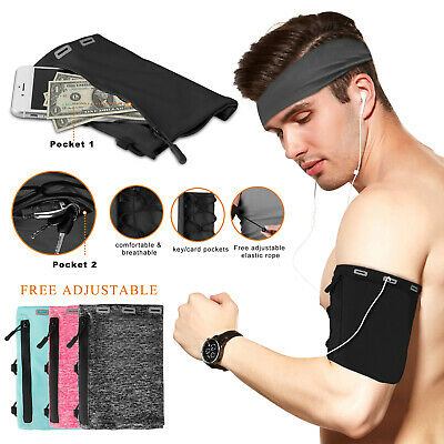 Arm Band Cell Phone Holder Bag Pouch Case Sports Gym Running Jogging Workt Out
