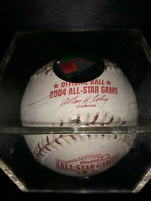 2004 ALL STAR GAME OFFICIAL RAWLINGS BASEBALL IN SEALED BALL CUBE NEW UNOPENED-