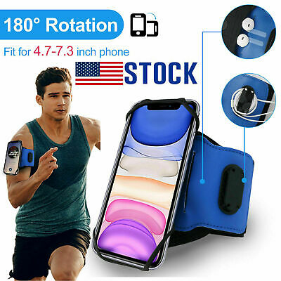 180 Rotatable Armband Case Cell Phone Holder Arm Stand Gym Running Jogging Sport