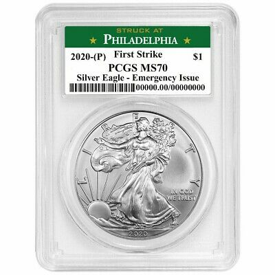 2020P Emergency Production American Silver Eagle - PCGS MS70 First Strike