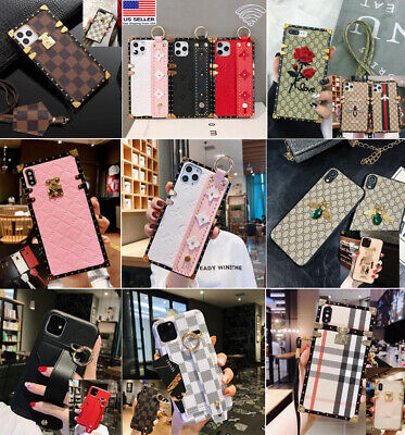 Luxury Pattern Hand Strap Phone Case for iPhone 78 Plus X XS MAX XS 11 pro max