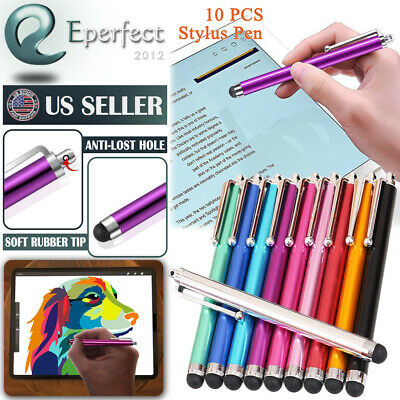 10X Metal Universal Stylus Pen Touch Screen Pen For iPhone Samsung iPad Pencil