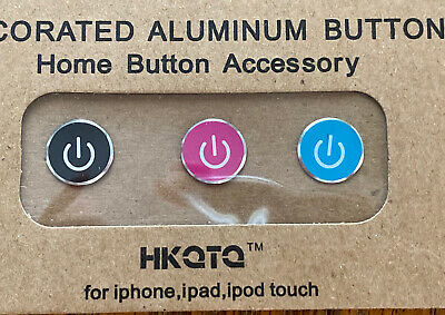 HOME BUTTON STICKERS- Original Home Button- Metal High Quality- US seller