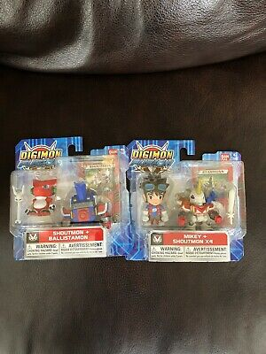 NEW BANDAI Digimon Fusion Mikey - Shoutmon X4 Action Figures Lot Of 2