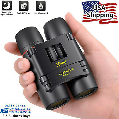 30x60 Small Compact Binoculars for Bird Watching Outdoor Hunting Travel Hiking
