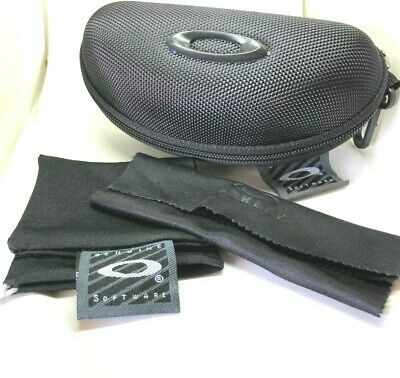 New Oakley black Sunglasses Case w Cleaning Cloth Dust bag