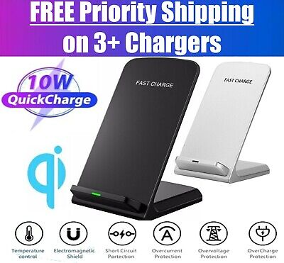 Qi Wireless Fast Charger Charging Stand Dock Pad for Samsung iPhone Android  LG
