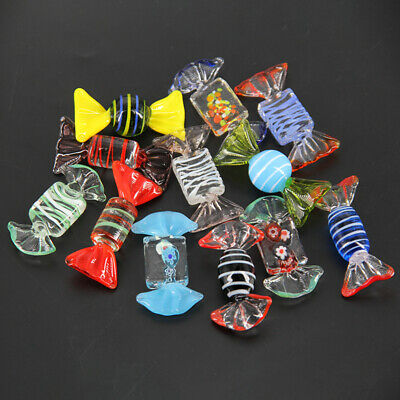 12Pcs Retro Glass Sweets Wedding Party Candy Birthday Party Decor Kid Gift 6x2cm