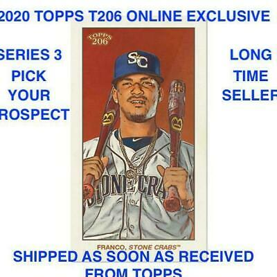 2020 Topps T206 Online Exclusive Series 3 1-50 BASE PRESELL PICK PROSPECT RC