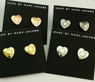 HOT SALE MARC BY MARC JACOBS 4 COLORS HEARTS LETTERS STUD EARRINGS E032X