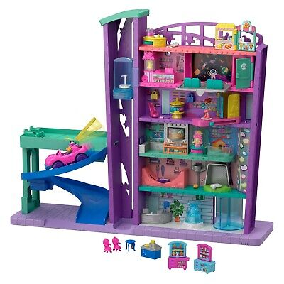 Polly Pocket Pollyville Mega Mall Playset with Themed Accessories GFP89 GIFT NEW