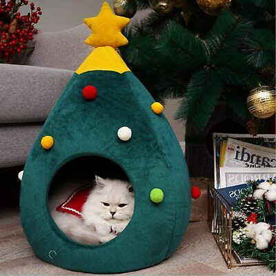 Cat Bed Dog Bed Pet Cave Christmas Tree Cats Small dogs puppies Comfy cute NEW