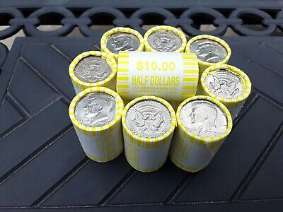 One 1 Unsearched Kennedy Half Dollar Rolls POSSIBLE 40 or 90 Silver Coins