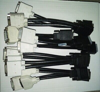 LOT of 11 DMS-59 to dual DVI Splitter Cable (Y Cable Kit)