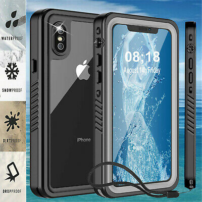 For iPhone XR  XS MAX 8 7 Plus Case Cover Waterproof Shockproof Screen Protector