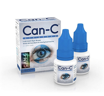 Can-C Eye Drops Lubricant For Cataract N-Acetylcarnosine 2 x 5 ml Exp 112022