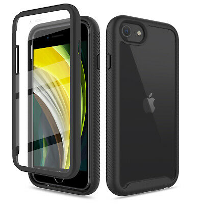 For iPhone SE 202078 Hybrid Case Clear Cover With Built-in Screen Protector