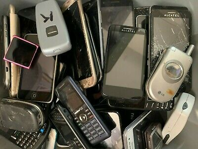LOT OF 100 PCS- 30 LBS Assorted Phones Tablets MP3 Player AS-IS UNTESTED 4 PARTS