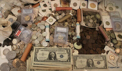 ESTATE SALE MIXED OLD US COINS  SILVER UNCIRCULATED LOT  VINTAGE COLLECTION