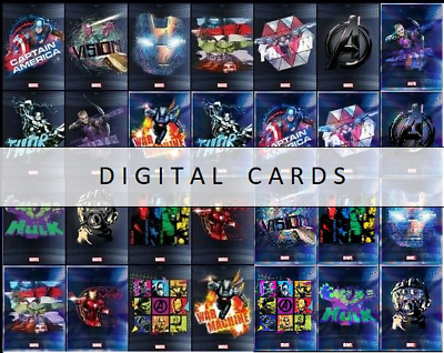 Topps Marvel Collect AVENGERS DIGITAL ART 30 DIGITAL CARD MOTION - BASE SETS