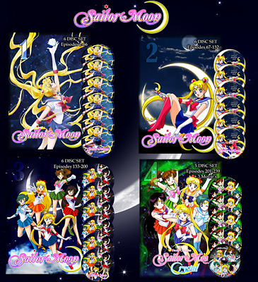Sailor Moon Complete Collection on DVD English Dubbed Season 1-6 - 3 Movies