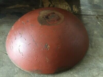 primitive old small wood bowl red paint