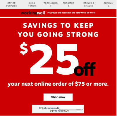 ⚡Immediate Message Delivery⚡STAPLES CODE 25 off 75 EXPIRES  92620