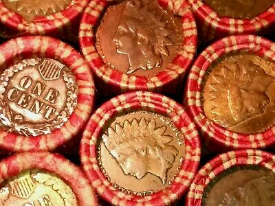 ESTATE SALE  INDIAN HEAD ENDS  Wheat Rolls Unsearched Cents US Coin Pennies