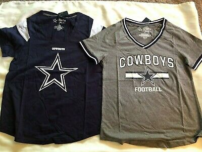 NWT Dallas Cowboys Womens Short Sleeve Shirt Pick Color - Size S to 2XL NEW