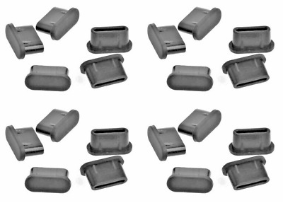 20x USB TYPE-C DUST PLUG STOPPER SILICONE BLACK for Samsung Galaxy Note 20 Ultra