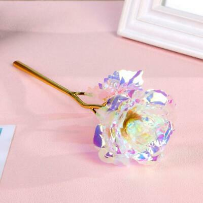 24K Gold Foil Rose Flower LED Luminous Galaxy Mothers Day Thanksgiving Day Gift