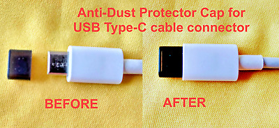 20pcs SILICONE FEMALE DUST CAP COVER FOR USB TYPE-C CABLE MALE PLUG CONNECTOR